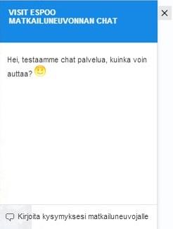 Visit Espoo Chat-ruutu
